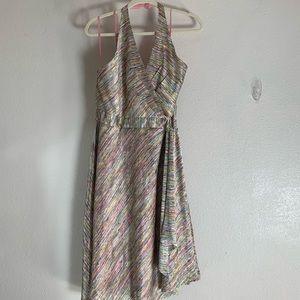 Newport News halter top dress multicolor a line xl